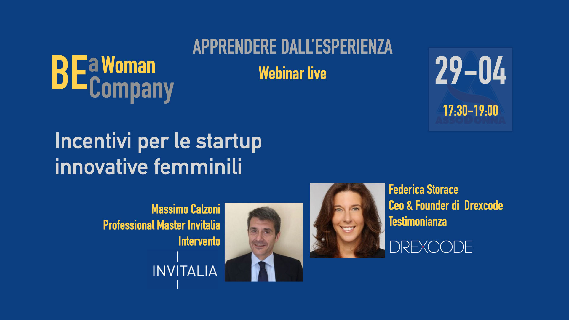 Startup Webinar - Incentivi per le startup femminili