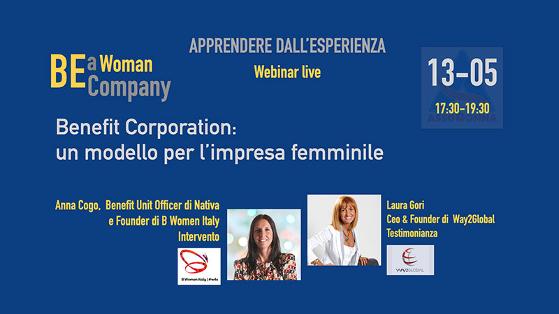 Webinar Anna Cogo e Laura Gori Benefit Corporation